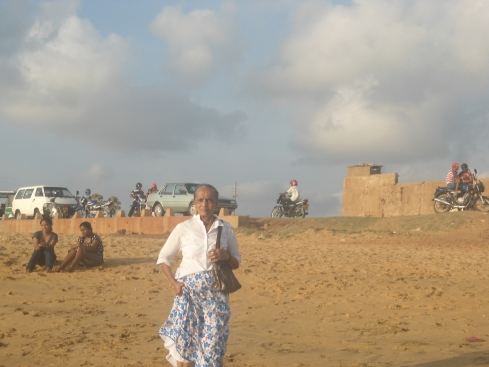 A lady at he beach